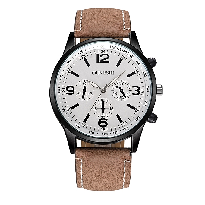 83aaca4c5e478 jiuhap store Men Luxury Stainless Steel Quartz Military Sport Leather Band  Dial Wrist Watch C-
