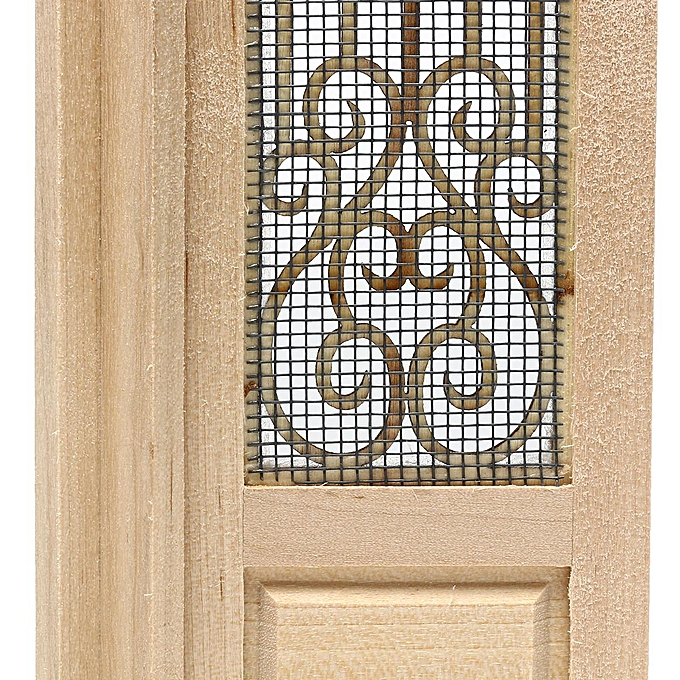 Generic 1 12 Dollhouse Miniature Wood Double Door Unfinished Can Be