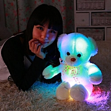 Kisnow Colorful Lights Connect Phones Music Plush Toys Teddy Bears(Color:Pink In Day)