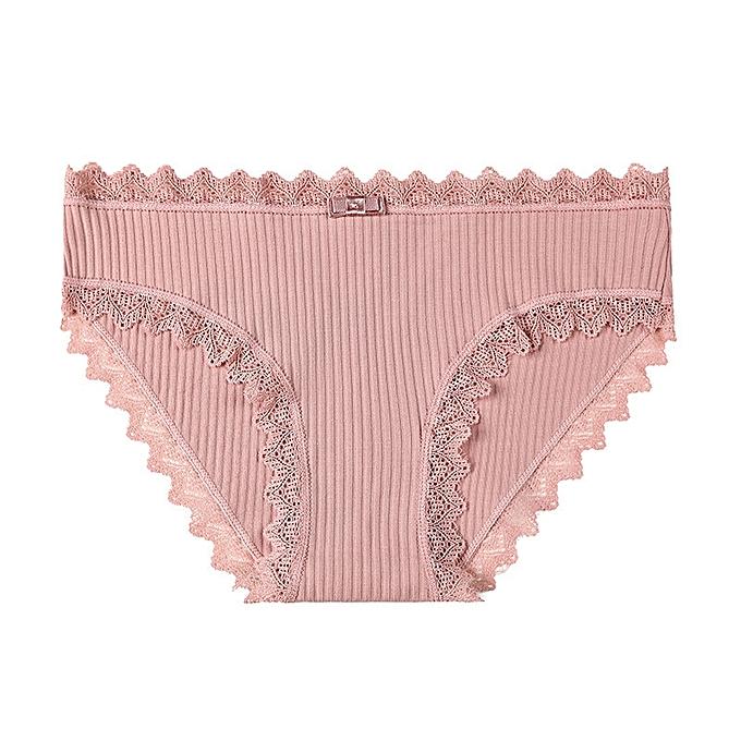 76059423c05f Sweet girl underwear female cute seamless underwear lace side student  cotton briefs-pink