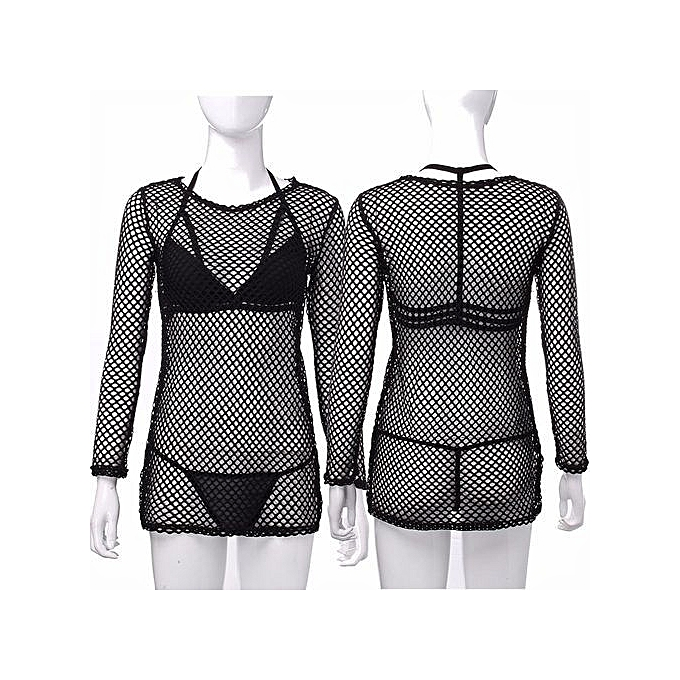 f059e7a255 Women Sexy Swimwear Crochet Beach Bikini Cover Up Dress Beach Wear Kaftan  Tops