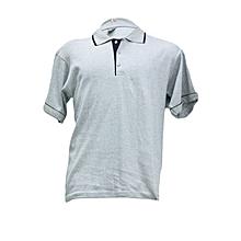 Polo Shirts Inter Lock Drop Needle- White- L