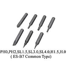 MINI ES-B7 4mm Hex Shank S2 Alloy Steel Screwdriver Bit Set for ES120 Electric Screwdriver