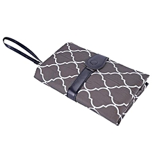 Portable Baby Diaper Changing Pad Travel Nappy Bag Gray