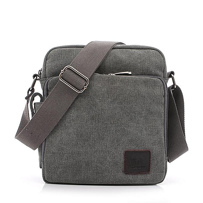 2aa2d80d559e Multi-functional Casual Messenger Bags Men Canvas Leisure Men Shoulder Bags  Vintage Small Crossbody Satchel Bag For Men 1092-1(1092-1 gray)