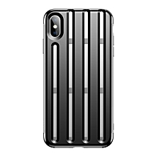 Baseus Hollow-ed Out Bike Helmet Design Heat Dissipation TPU Case for iPhone XS Max(Black)