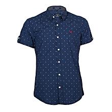 Blue Short Sleeved Shirt