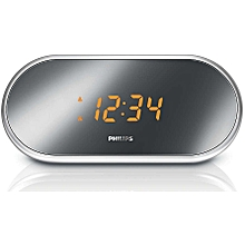 AJ1000/05  - Stylish Alarm Clock with FM Radio - Silver