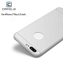 Frosted Soft Touch Flexible Silicone Back Case For IPhone 7 Plus 5.5 Inch - White
