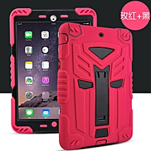 Shockproof Heavy Duty Silicon+PC Stand Back Case Cover For Apple ipad Pro 9.7inch(Rose+Black) CHD-Z