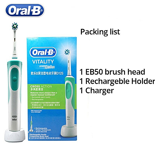 Oral B Vitality D12S Rotating Electric Toothbrush Rechargeable Heads Teeth  Brush Oral Hygiene Toothbush Heads(D12S)