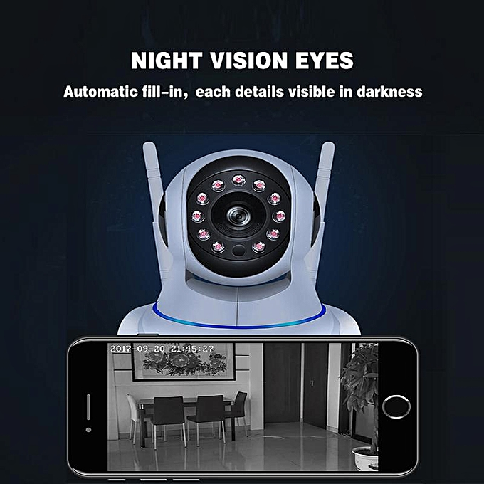 1080P HD Video Infrared Night Vision Camera,Home Security Camera System,  Encrypted ID, Wall Mount, Video Playback, Plug and--play,Detection and
