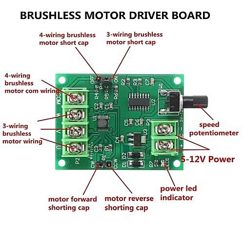 buy generic 5v 12v dc brushless motor driver board controller for 5v 12v dc brushless motor driver board controller for hard drive motor 3 4