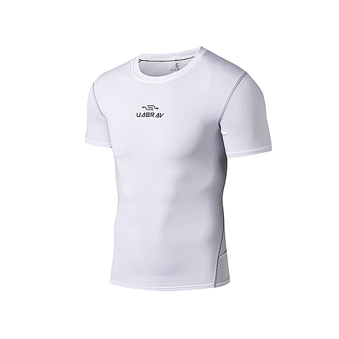 Men s Quick Dry Short Sleeve T-Shirt Running Fitness Shirts Workout  Athletic Compression Shirts ... 11ad8b7557c
