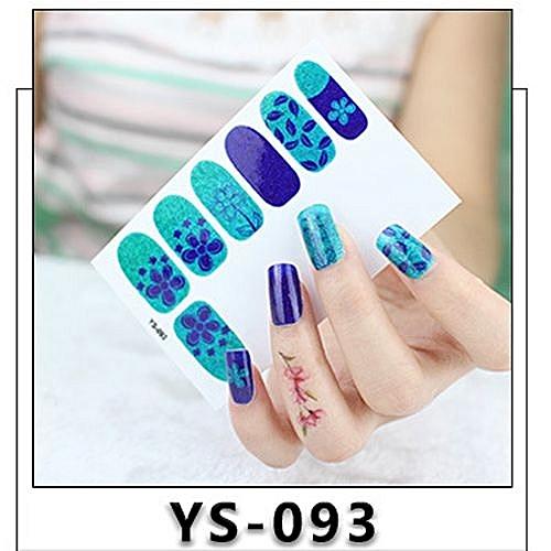 Buy Generic 12pcs New Diy Nail Wraps Stickers Patch Foils Art Decals
