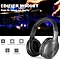 Wireless Bluetooth Headphones On Ear Stereo Music Headset 70 Hours Playtime with Built-in Microphone 3.5mm Wired Earphone for Smart Phone Tablet PC Other Bluetooth Devices Black with Grey