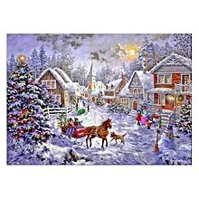 40*30cm Christmas House Pattern Needlework Diamond Painting Embroidery Kits