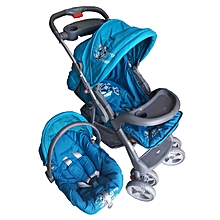 Superior 3 in 1 Baby Stroller Set - Blue