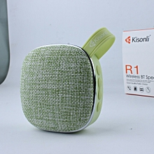Portable Bluetooth Speaker Woofer FM radio soft fabric- green