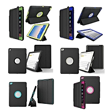 Shockproof Heavy Duty Hard Case & Smart Cover for Apple iPad 4/3/2 Black + green Mll-S