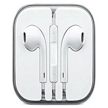 Earphones For iPhone 6 / 6S / 6 Plus  - White.