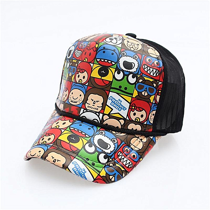 f1edd70d 2019 New Fashion Cartoon Hip Hop Baseball Caps Wholesale Adjustable Fitted  Hats Casual Letter Printing Wash Cap For Men Women