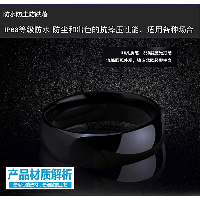 The NFC intelligence porcelain and ceramics ring ic id ring