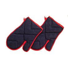 2Pc - Oven Glove -Navy Blue/Red