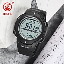 Ohsen Men Sports Military Watches LED Digital Man Brand Watch 5ATM Dive Swim Dress Fashion Outdoor Waterproof Boys Wristwatches