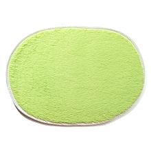 1Pcs 40*60CM Bathroom Carpets Absorbent Soft Memory Foam Doormat Floor Rugs Oval Non-slip Bath Mats Green