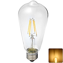 YouOKLight E27 4W 380LM 3000K Squirrel Caged COB Globe Bulbs 4 LEDs Sapphire Filament Light WARM WHITE