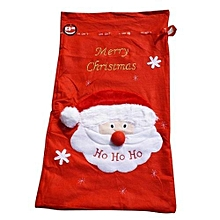 bluerdream-Plus Size Santa Claus Gift Bag Candy Gift Bag Xmas Tree Party Decoration-Red