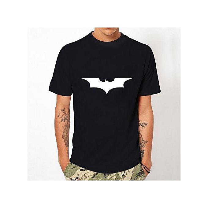 2017 Men's Fashion Summer Cartoon Batman T-shirts Men Short Sleeve O-Neck T-shirt High Quality Printed Hip Hop Tops Tee