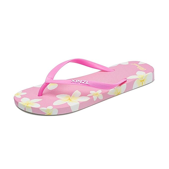 b2cb6829f Elegant Women Beach Flip Flops Floral Summer Fashion Slippers Ladies Comfy Shoes  Woman Home Flat Sandals