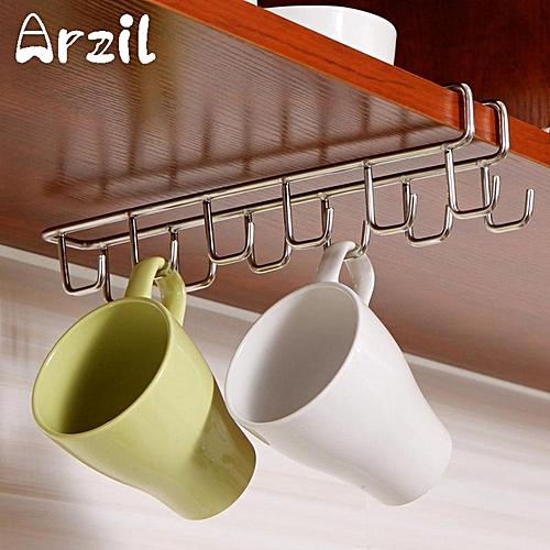 universal mug holder coffee tea cup rack storage kitchen under shelf cabinet hanger hooks best. Black Bedroom Furniture Sets. Home Design Ideas
