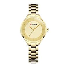 CURREN 9015 Women Watch Quartz Movement Wrist Watch Simple Causal Gift for Women