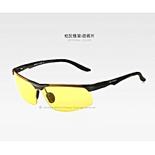 8716297236 Aluminum Magnesium Polarized Mens Sunglasses Sports Sun glasses Night  Driving Blue red Mirror Male Oculos