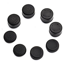 8Pcs PS4 Controllers Thumb Grips-Black