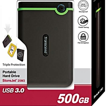 StoreJet External Hard Drive - 500 GB - USB 3.0 - Iron Gray