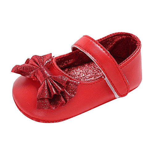 687f3710ea7 Infant Newborn Baby Baby Girls Shoes Bow Soft Crib Anti-slip Single Shoes