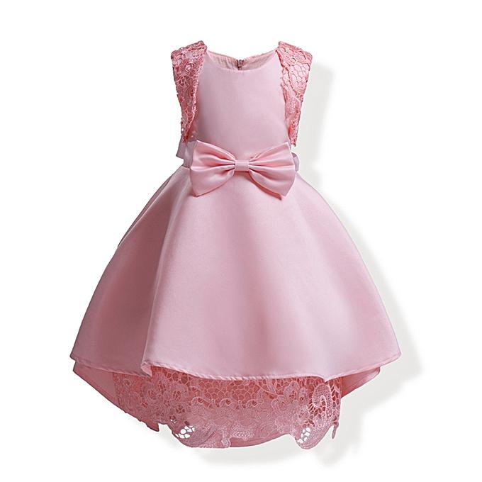 b6bdbfe65da0 Kids Baby Girls Elegant Formal Dresses Girl Dress Princess Party Pageant  Lace Tulle Dress - Pink