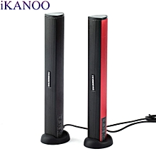 iKANOO N12 Portable USB 2.0 Steroe Heavy Bass Computer Laptop Speaker With Holder Clamp