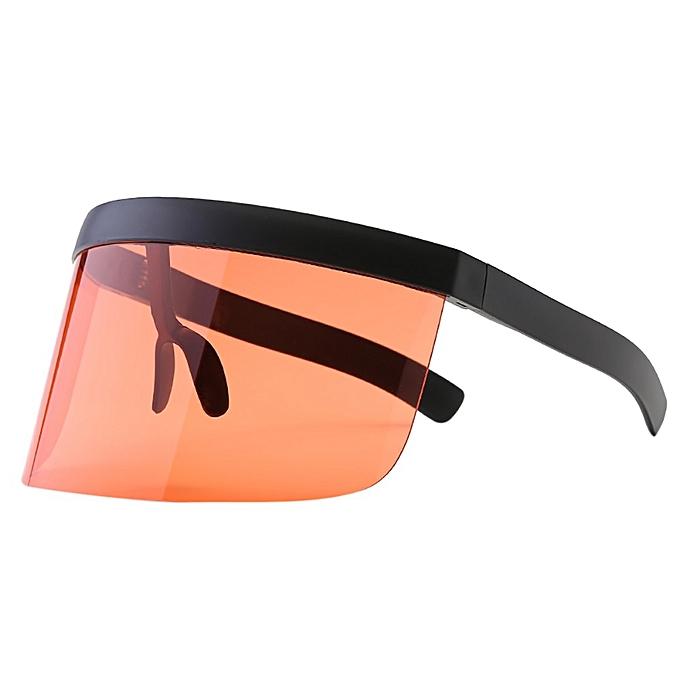 b6dae09024eec Women Man Vintage Transparent Single Big Lens Sunglasses Eyewear Sun-proof  Retro