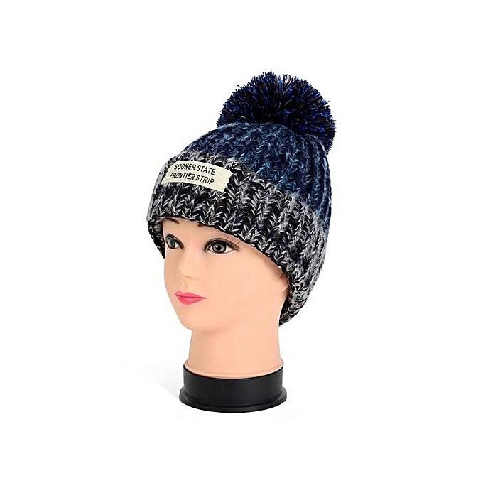 627a7ab6d1841 Braided Crochet Beanie Beret Ski Ball Cap Baggy Womens Winter Warm Hat BU