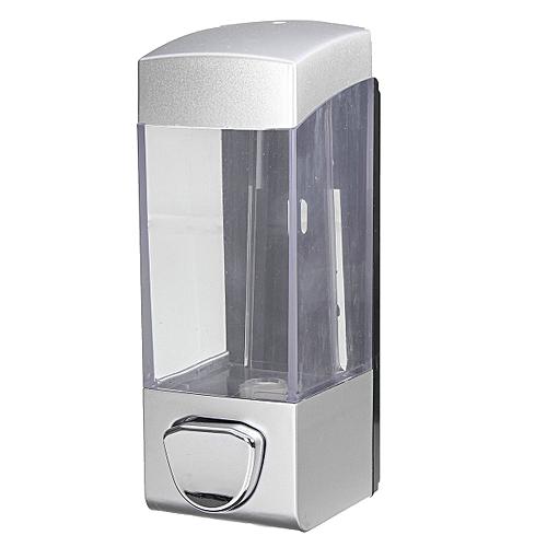 Shower Gel Body Lotion Shampoo Liquid Wall Mount Soap Dispenser Holder Bathroom Silver