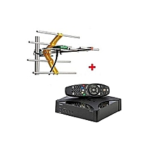 Digital Set Box Decoder With Aerial - Black