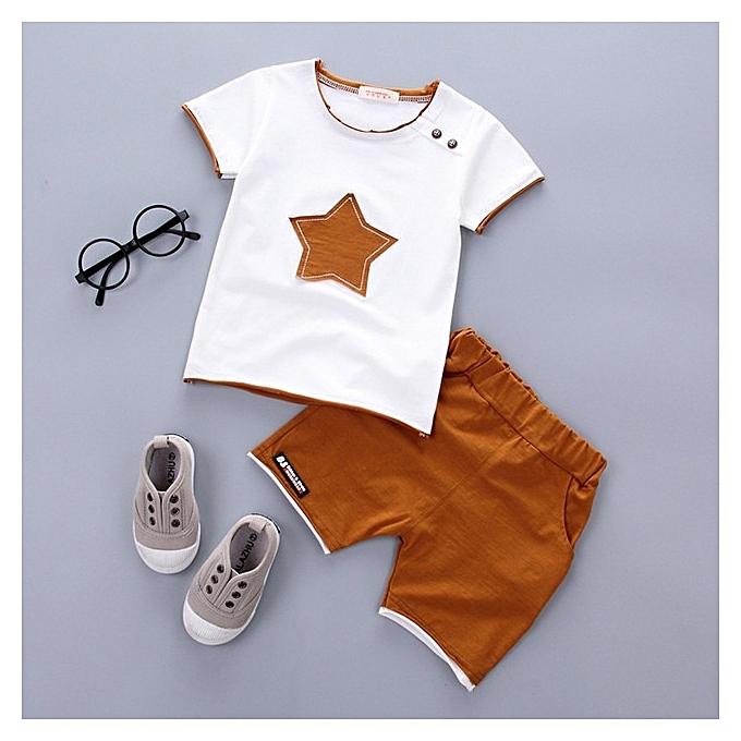 9133e10bf 2PCS Suit Baby Boy Clothes Children Summer Toddler Boys Clothing set  Cartoon 2018 New Kids Fashion Cotton Cute Stars Sets