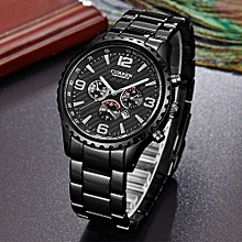 Watches, 8056 Luxury Casual Brand Men Sports Military Quartz Business Watch - Black
