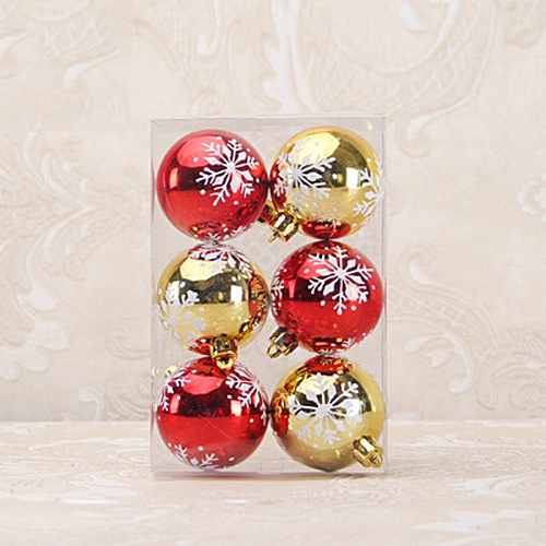 6pcs christmas balls baubles party xmas tree decorations hanging ornament decor