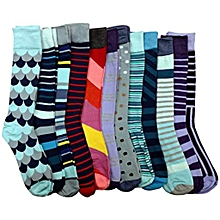 High quality 12 pairs of Fashion Multicoloured socks (Colour And Patten Varries)